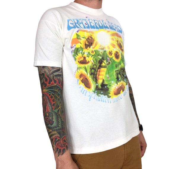 Rare Vintage 90s 1995 95 Grateful Dead Summer Tour Sunflowers single stitch rock n roll band tour concert graphic tee t-shirt shirt - Size M