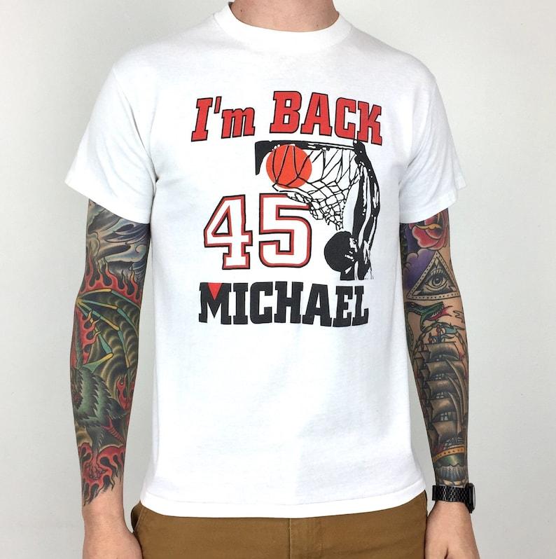 1dadf55785d Vintage 90s NBA Chicago Bulls Michael Jordan 45 I'm Back | Etsy