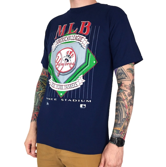 Deadstock NWT Vintage 90s 1992 92 MLB New York Yankees Made in USA Salem Sportswear baseball graphic tee t-shirt shirt - Size M