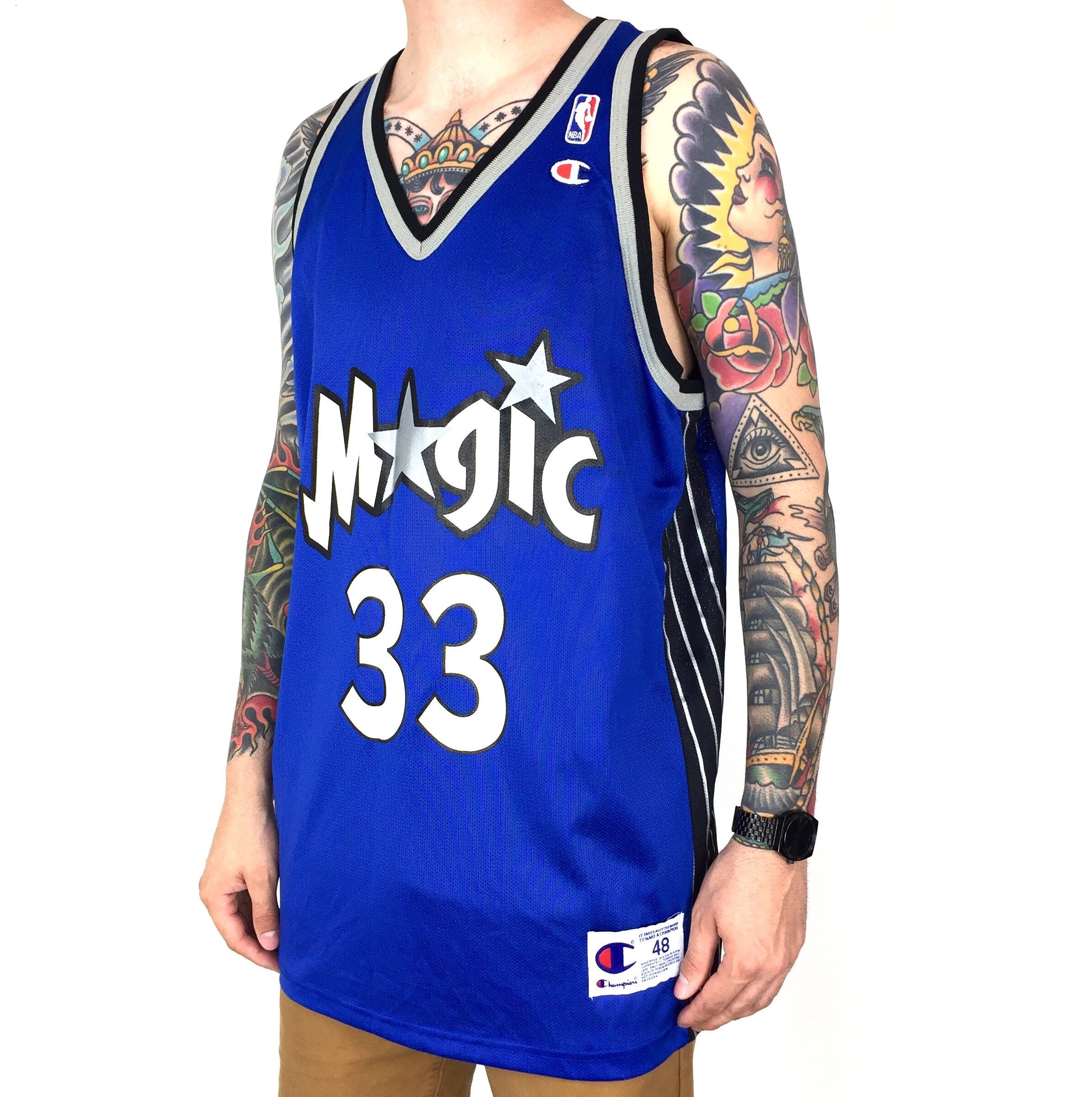395d427bd Deadstock NWT Vintage NBA Orlando Magic Grant Hill  33 two tone basketball  jersey - Size 48   XL