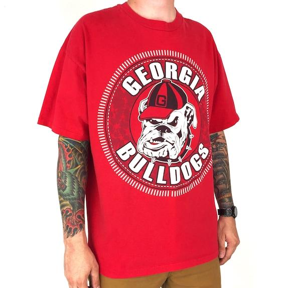 Vintage 90s NCAA UGA University of Georgia Bulldogs single stitch Made in Usa college graphic tee t-shirt shirt - Size XXL