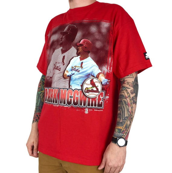 Deadstock NWT Vintage 90s 1997 97 Starter MLB St Louis Cardinals Mark McGwire Made in USA baseball graphic tee t-shirt shirt - Size L