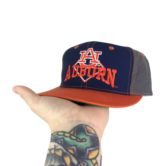 Vintage 90s The Game NCAA Auburn University Tigers color block college snapback hat