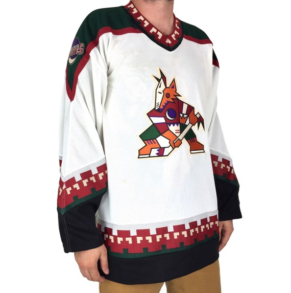 Deadstock Vintage 90s CCM NHL Phoenix Coyotes stitched sewn hockey jersey - Size XL
