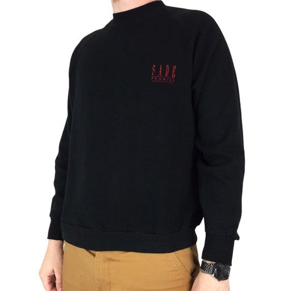 Vintage 80s Sade Promise Made in USA raglan pullover crewneck soul hip hop rap graphic sweatshirt - Size M