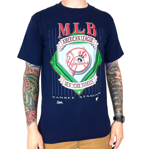 Deadstock NWT Vintage 90s 1992 92 MLB New York Yankees Made in USA Salem Sportswear baseball graphic tee t-shirt shirt - Size M