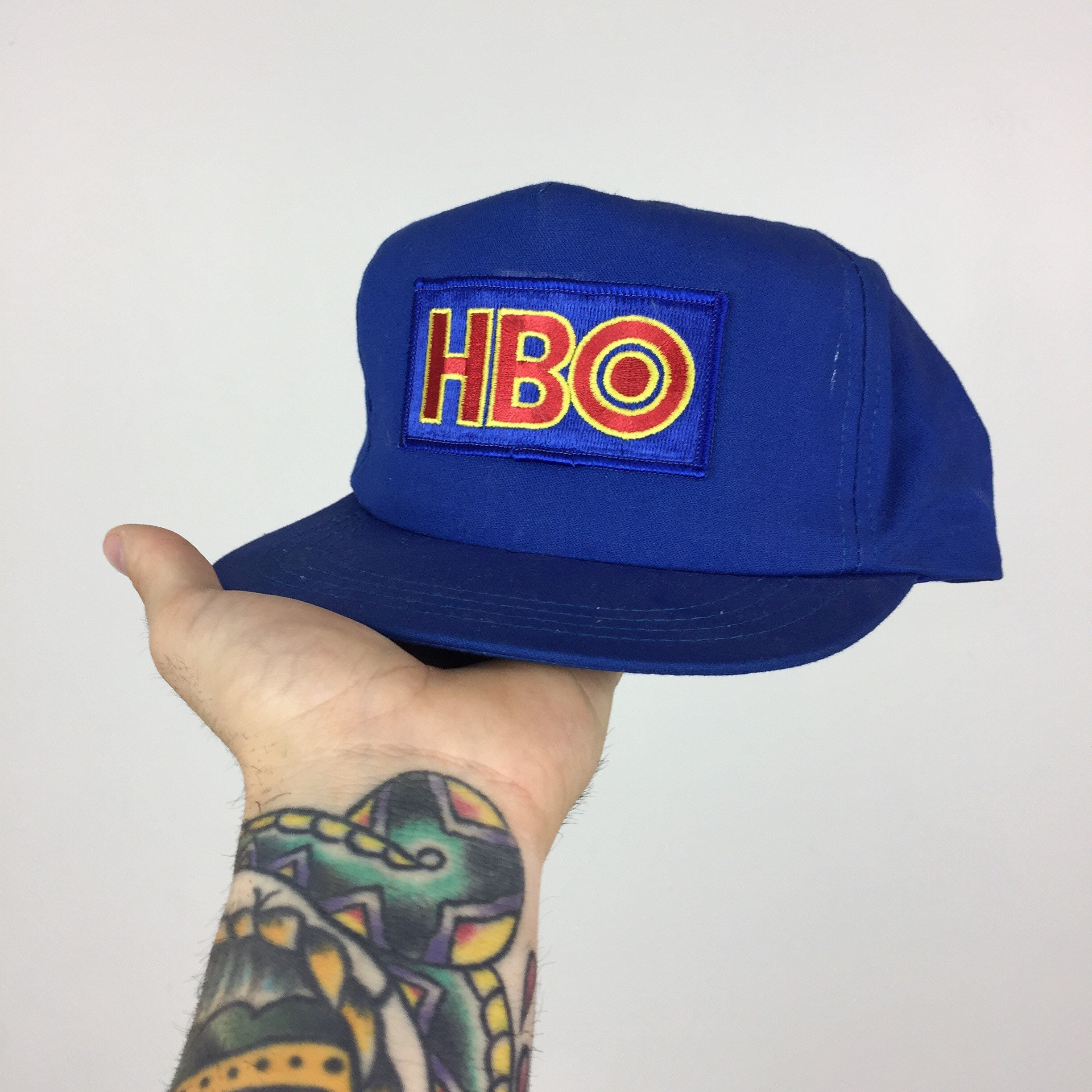 Rare Vintage 80s HBO Home Box Office Blue Patch Movie