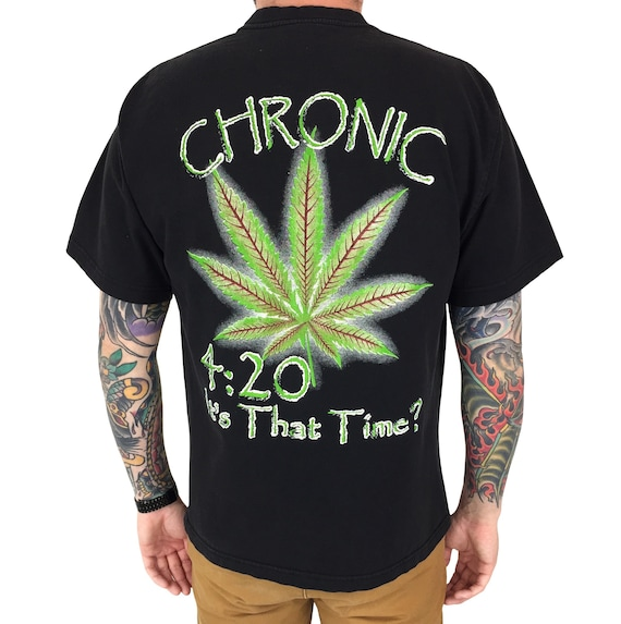 Vintage 90s Marijuana Weed Chronic 420 Agriculture promo novelty humor graphic tee t-shirt shirt - Size L