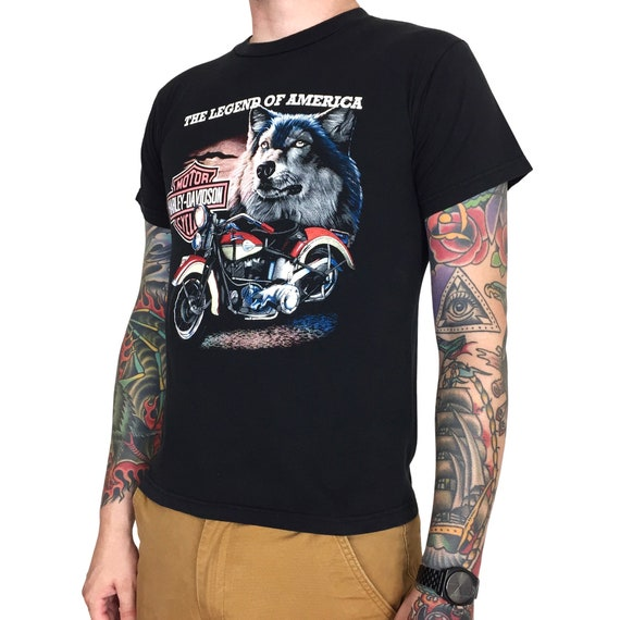 Vintage 90s Harley Davidson Malaysia Legends of America moto motorcycle graphic tee t-shirt shirt - Size S