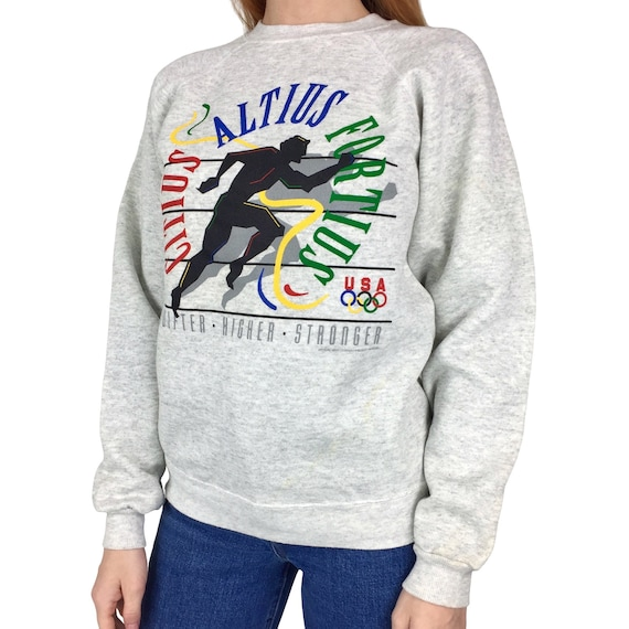 Deadstock NWT Vintage 90s ATL 1996 96 Atlanta Olympics Olympic Games Usa pullover crewneck graphic sweatshirt - Size XS