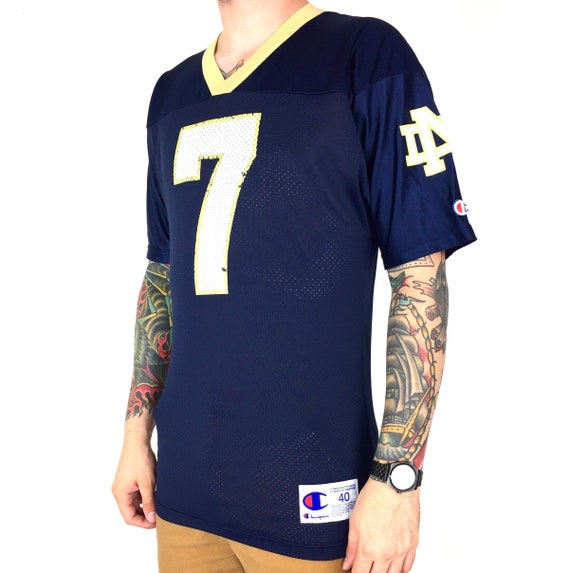 Vintage 90s Champion NCAA University of Notre Dame Fighting Irish #7 football jersey - Size 40 / M