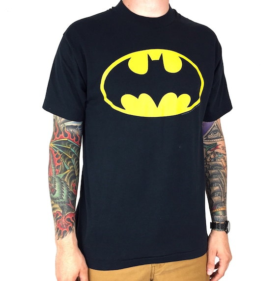 Vintage 80s 1985 85 DC Comics Batman movie promo promotional single stitch Made in USA graphic tee t-shirt shirt - Size L