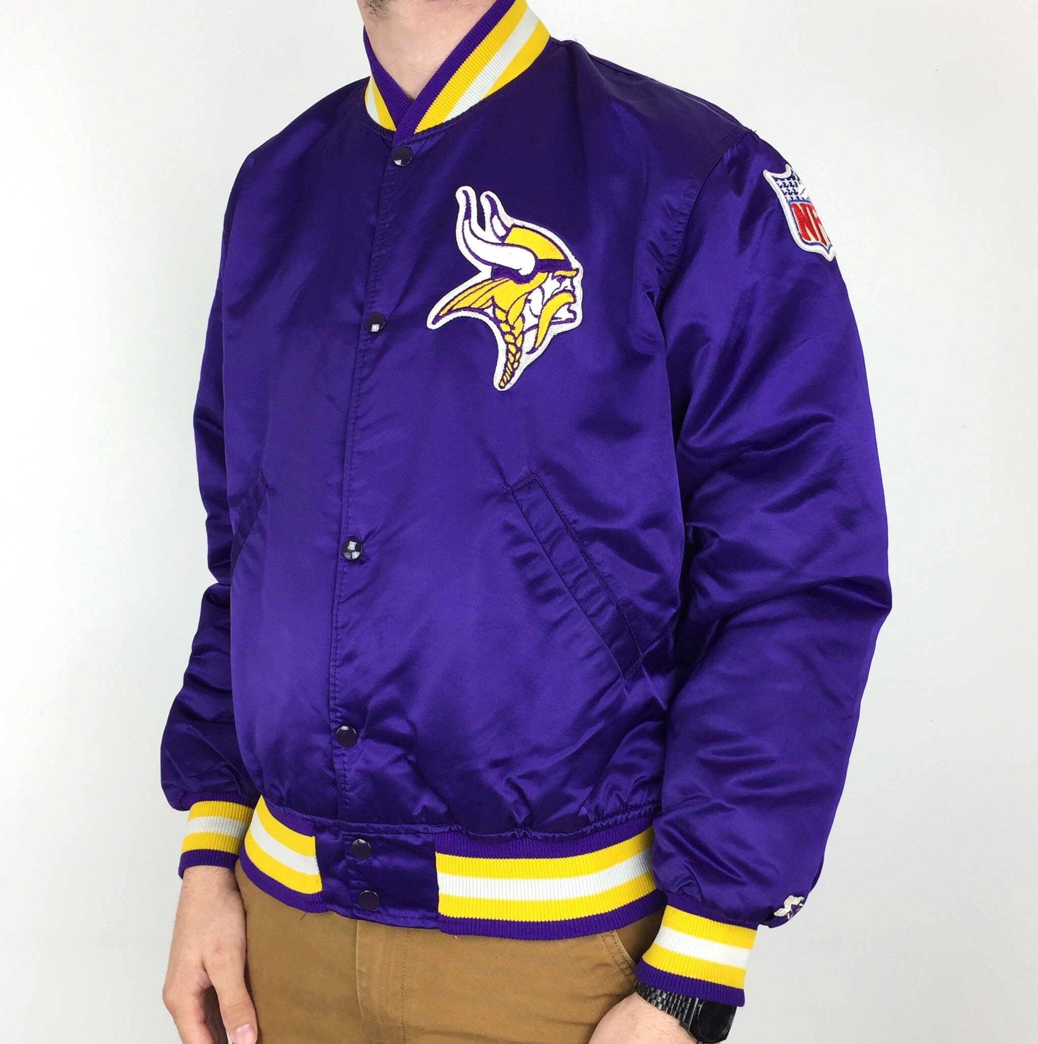 official photos 3db6d 53455 Rare Vintage 80s Starter NFL Minnesota Vikings Made in USA ...