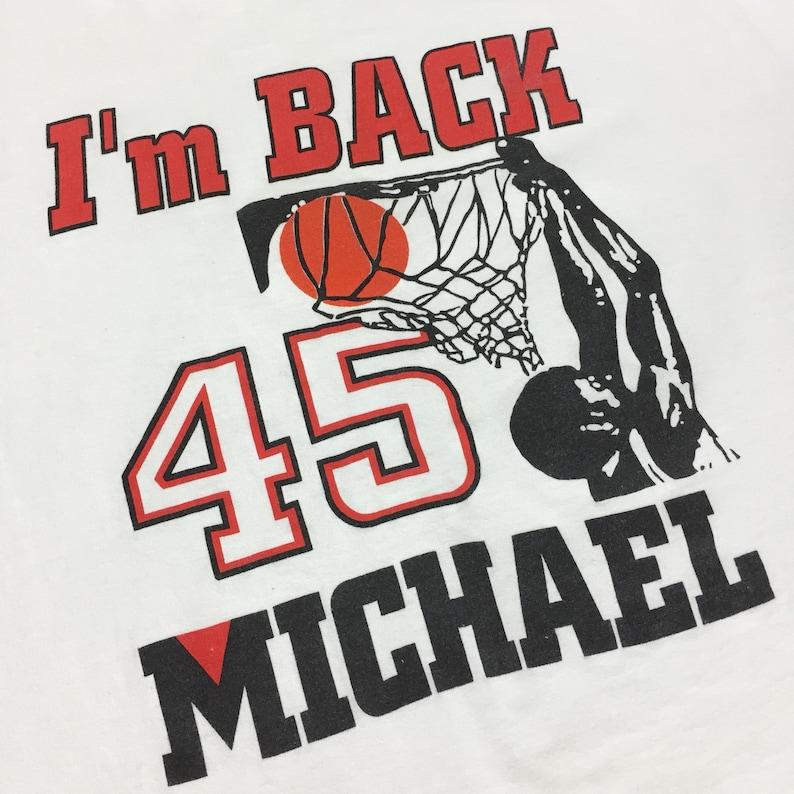 8823af2bb0b Vintage 90s NBA Chicago Bulls Michael Jordan 45 I'm Back | Etsy