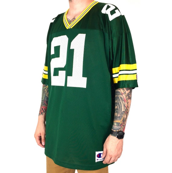 Vintage 90s Champion NFL Green Bay Packers Craig Newsome #21 Made in USA football jersey - Size 52 / XXL