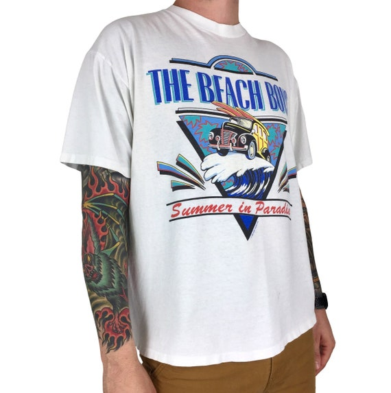 Vintage 90s 1995 95 The Beach Boys Summer in Paradise single stitch band tour concert graphic tee t-shirt shirt - Size XL