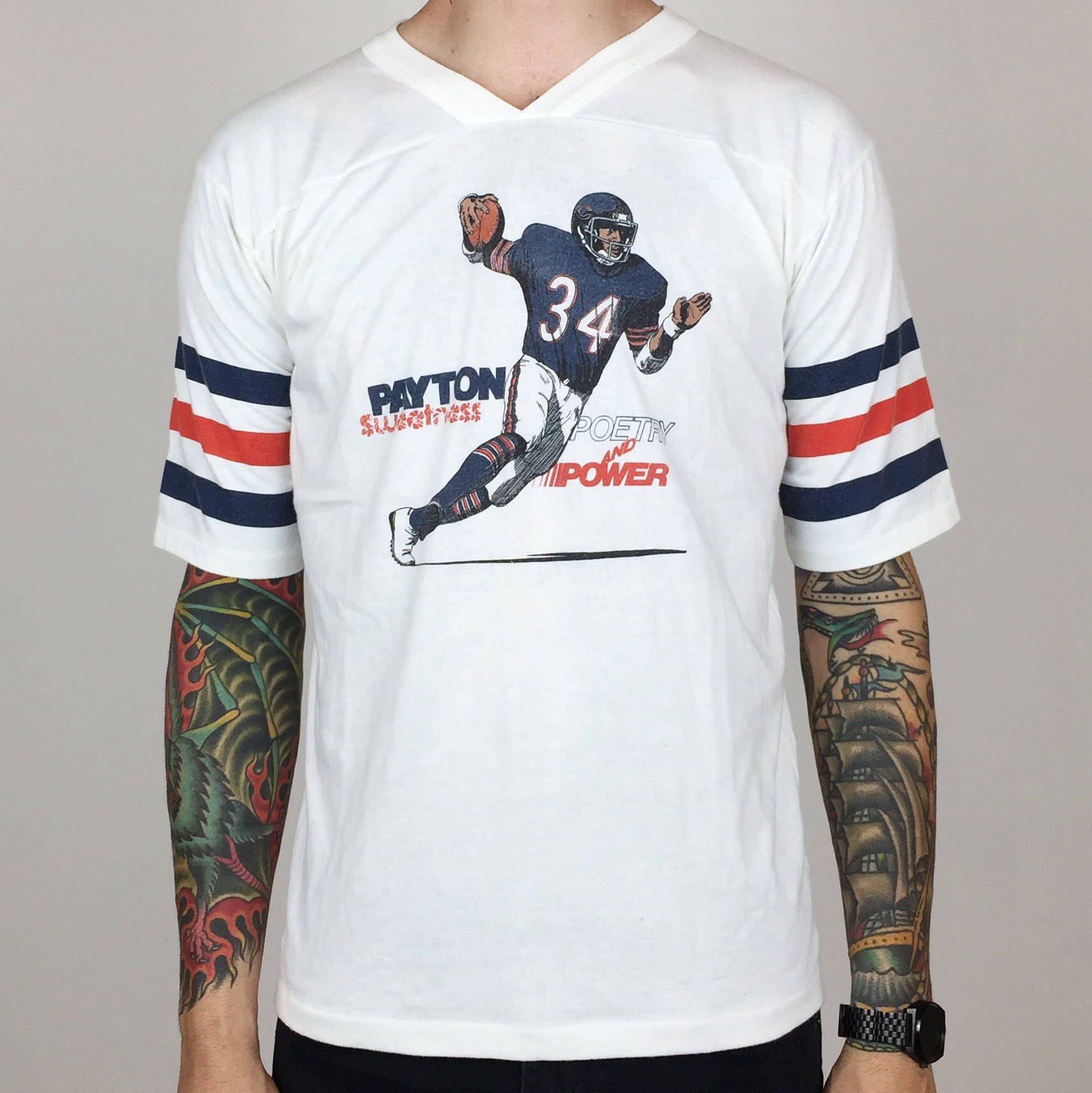 low priced de9a4 76bba Chicago Bears Mens Retro Vintage T Shirt - DREAMWORKS
