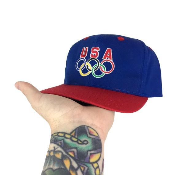 Vintage 90s ATL 1996 96 Atlanta Olympics Olympic Games Team USA Rings Olympicap snapback hat