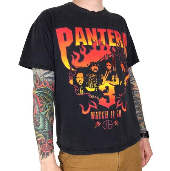 Rare Vintage 90s Pantera Watch It Go Winterland metal rock and roll band tour concert graphic tee t-shirt shirt - Size L