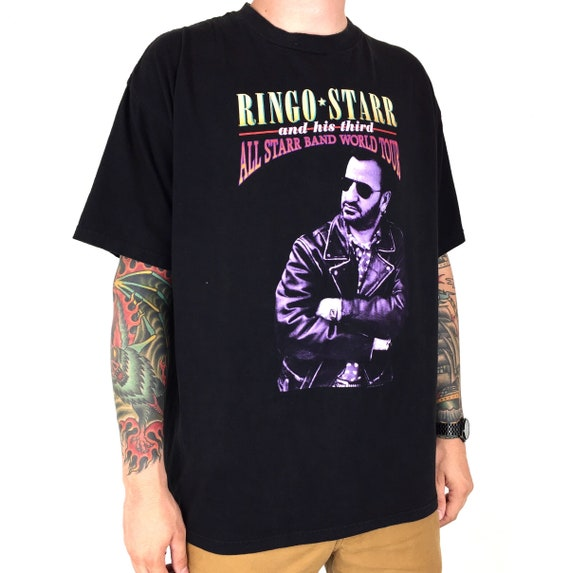 Vintage 90s 1995 95 Ringo Starr All Star Band World Tour The Beatles rock and n roll band tour graphic tee t-shirt shirt - Size XL