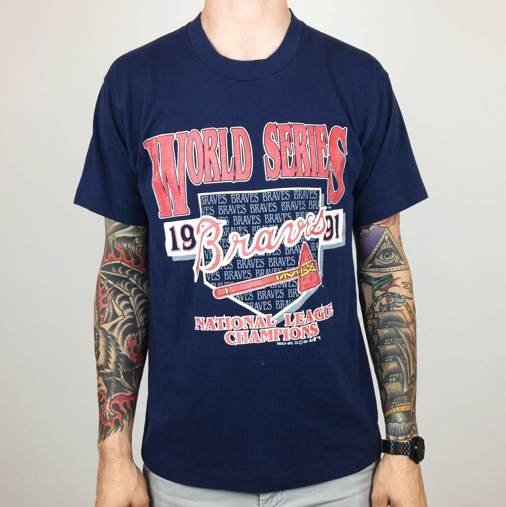 Vintage 90s MLB Atlanta Braves 1991 World Series - National