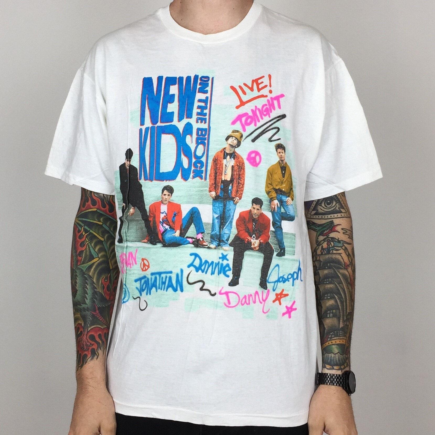 f64bd11a M Herrenmode Mens Unisex New Kids On The Block NKOTB Concert Shirt New S