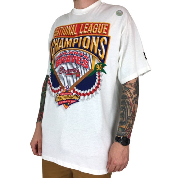 Deadstock NWT Vintage 90s 1996 96 MLB Atlanta Braves World Series Starter Made in Usa graphic tee t-shirt shirt - Size XL