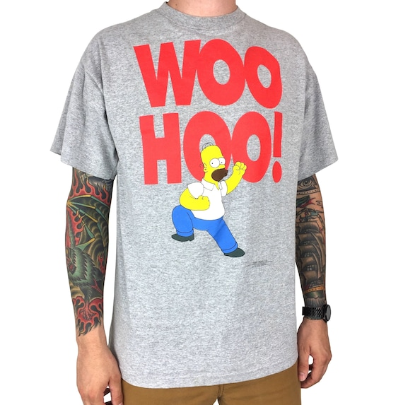 Vintage 90s 1997 97 The Simpsons Homer Simpson Woo Hoo Made in USA single stitch promo promotional graphic tee t-shirt shirt - Size L