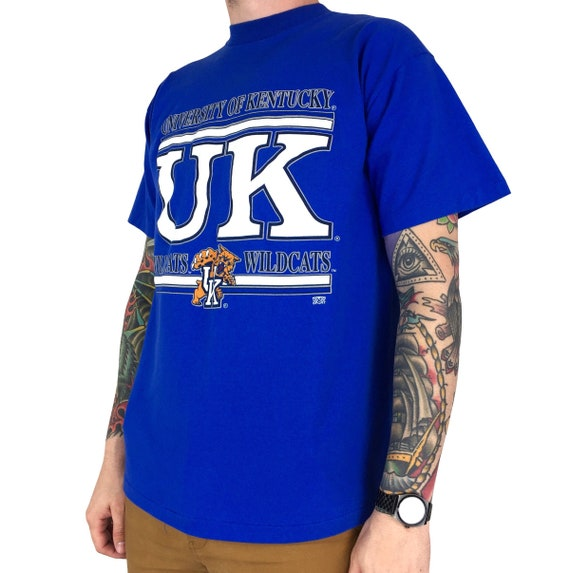 Vintage 90s NCAA Univeristy of Kentucky UK Wildcats single stitch Made in USA college graphic tee t-shirt shirt - Size L