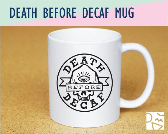 Fuck decaf funny gift cuss word naughty gift funny