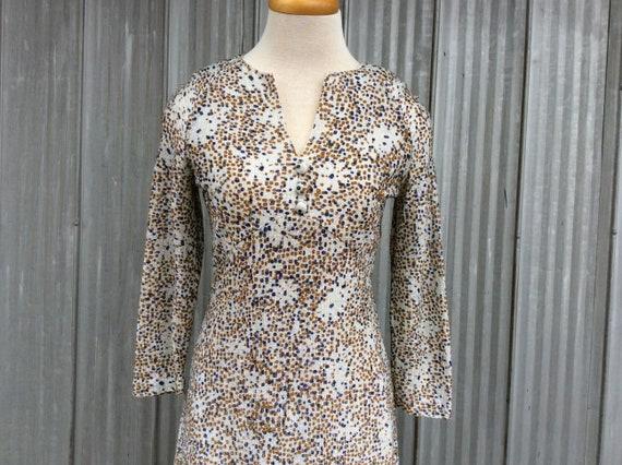 1970's Long Evening Dress - Psychadelic Maxi Dress