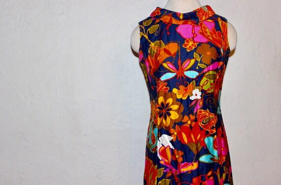 1960 Psychadelic Hawaïen dress / Vintage flower pr