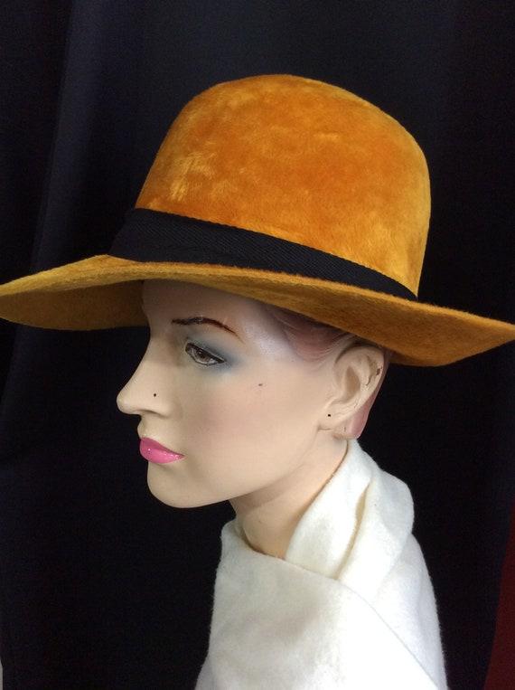 a2e3570f3ad Vintage Herbert Johnson 1970 Funky Fedora Hat Woman  Hippie