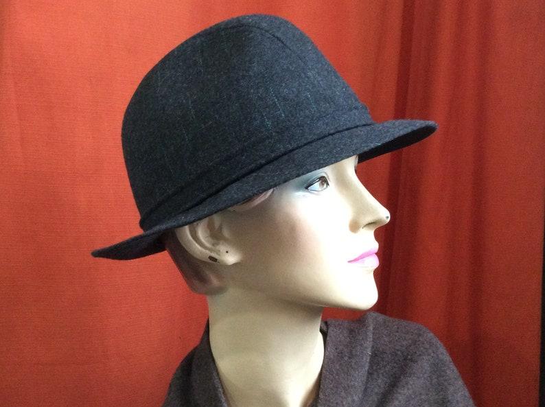 cd9d73e254161 Vintage Stetson Fedora Hat Man   Fedora in Dark Gray Wool Felt