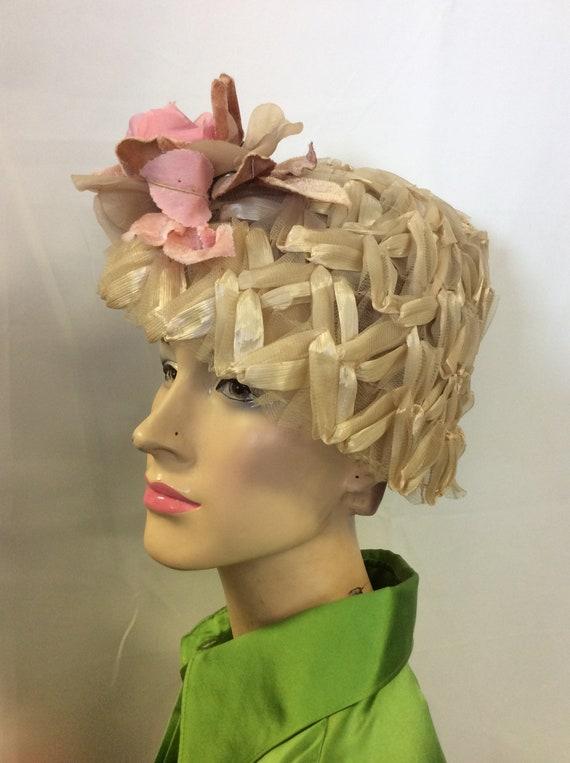 Large Satin Braided Lampshade Hat