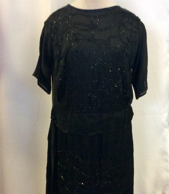 1920 Flapper dress / Elegant black dress with pear