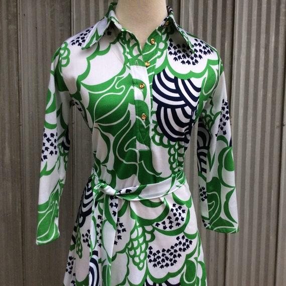 Psychadelic vintage dress 1970 / Hippie chic dress