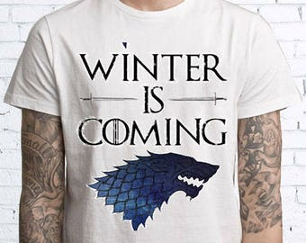 Game of Thrones Funny - Winter is Coming Tee Shirt Mens Womens T-shirts FEA336