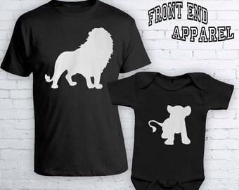 3f1291c26c31f Lion King Matching Father Son Shirts Disney Vacation Simba Disney Shirts  Matching Dad And Son Shirts Bodysuit FEA461- FEA462