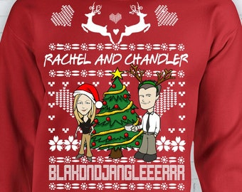 Friends Tv Show Ugly Christmas Sweater Xmas Pheobe Monica Etsy