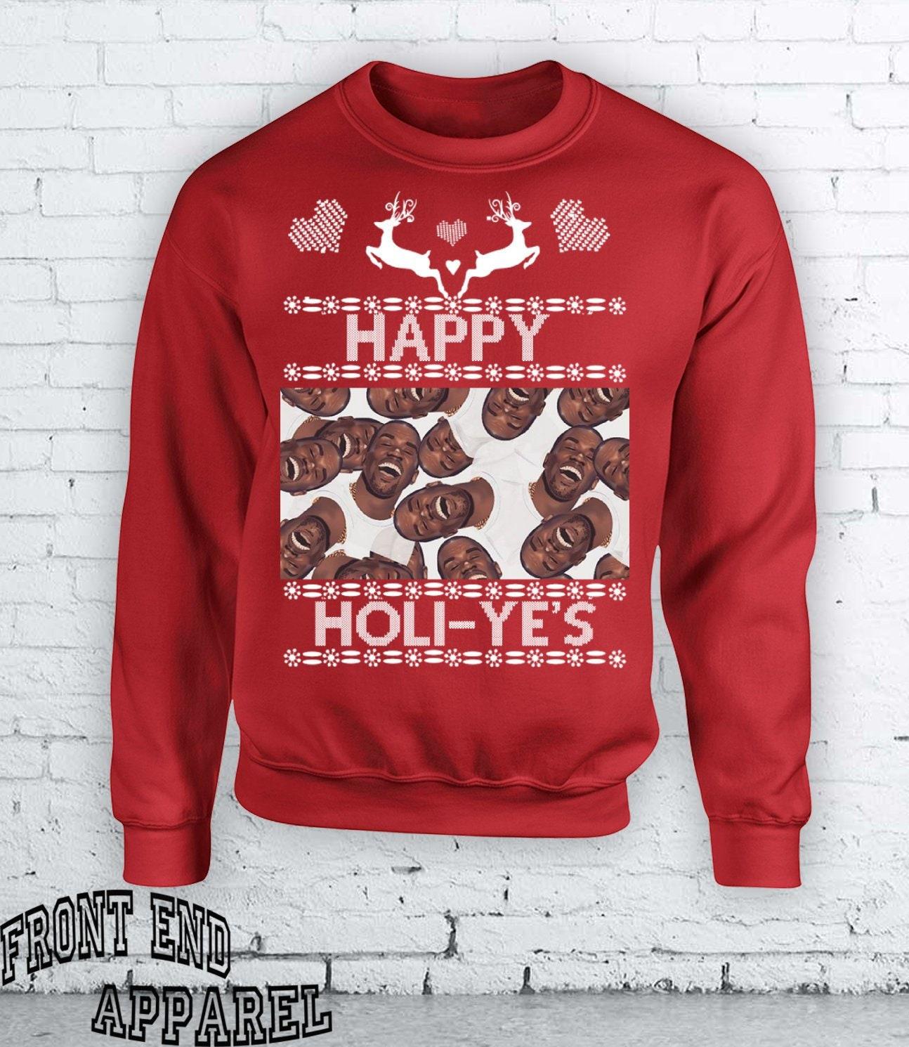 Kanye West Happy Holidays Ye Yeezy Christmas Gift Rappers   Etsy