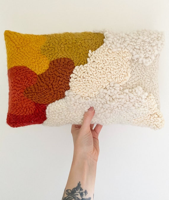 Coussin punché « Sienna »