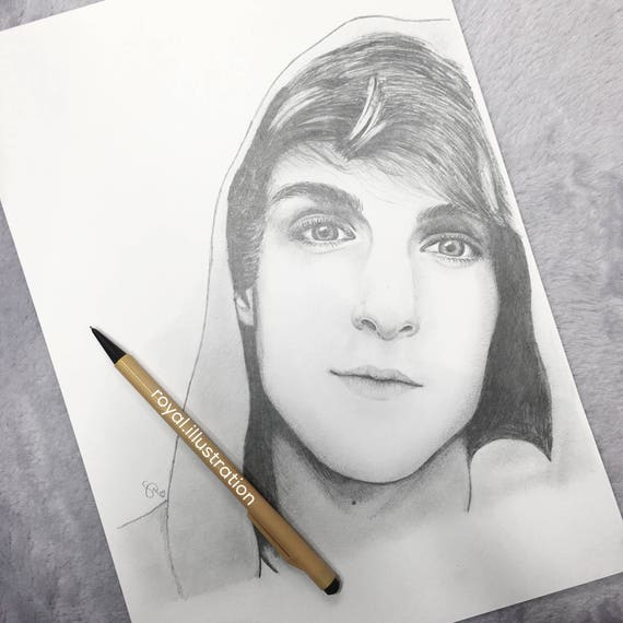 Items similar to logan paul pencil drawing on etsy