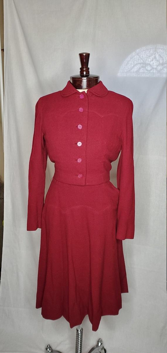 Vintage 1940s/1950s Anna Miller dress//Vintage 194