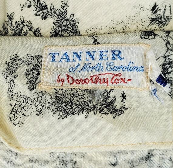 Vintage 1950s/1960swhite French Toile print dress… - image 10