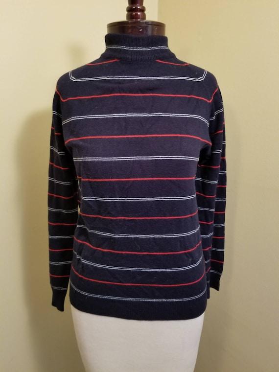 Vintage 1950s Helen Harper sweater// navy blue str