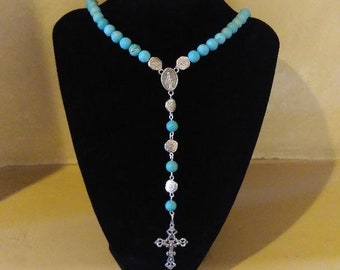 Turquoise beaded Rosary
