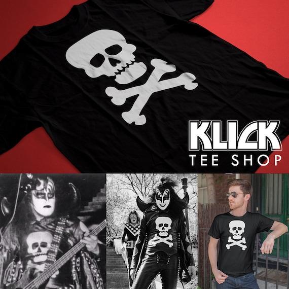 0cb2886d9 Kiss Gene Simmons Vintage 1974 Skull T-Shirt Replica Sizes S | Etsy