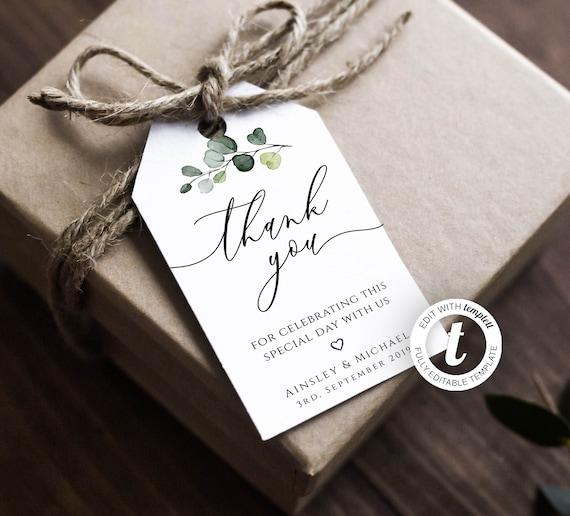 DOWNLOAD Printable Beige Earth Tone Cream Taupe Wedding Thank You Tag Bridal Tag 43 Editable Text Modern Tag Boho Favor Tag Template