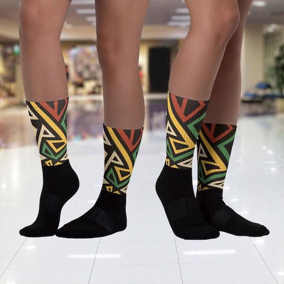 Cozy Socks Abstract Printed Socks Printed Socks Custom Socks Comfy Socks Abstract Socks Casual Socks Yoga Socks Boho Socks